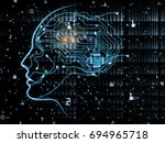 cpu mind series. composition of ... | Shutterstock . vector #694965718