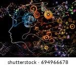 digital mind series. visually... | Shutterstock . vector #694966678