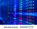 stock market ticker with blue... | Shutterstock . vector #694967179