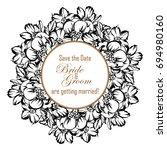 vintage delicate invitation... | Shutterstock .eps vector #694980160