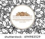 romantic invitation. wedding ... | Shutterstock . vector #694983529