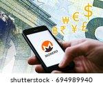 conceptual picture of  monero... | Shutterstock . vector #694989940