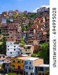 medellin slums | Shutterstock . vector #694995028