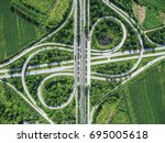 road traffic in city at... | Shutterstock . vector #695005618
