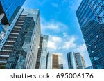 bottom view of modern... | Shutterstock . vector #695006176