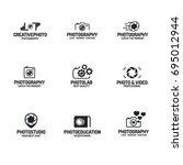 photography logo set black... | Shutterstock . vector #695012944