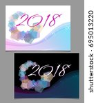 2018 year  abstract cover in... | Shutterstock .eps vector #695013220