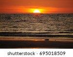 sunset landscape | Shutterstock . vector #695018509