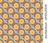 new color seamless pattern with ... | Shutterstock .eps vector #695019559