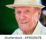 very old man portrait with... | Shutterstock . vector #695020678