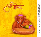 illustration of lord ganpati... | Shutterstock .eps vector #695028166