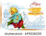 illustration of lord ganpati... | Shutterstock .eps vector #695028250