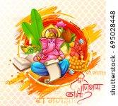 illustration of lord ganpati... | Shutterstock .eps vector #695028448