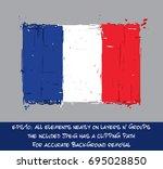 french flat flag   vector... | Shutterstock .eps vector #695028850