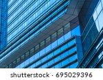 detail glass building... | Shutterstock . vector #695029396