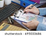 business accounting | Shutterstock . vector #695033686