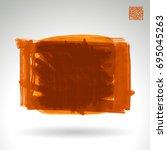 orange brush stroke and texture.... | Shutterstock .eps vector #695045263