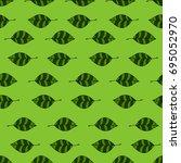green leaves | Shutterstock .eps vector #695052970