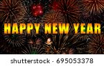 happy new year | Shutterstock . vector #695053378