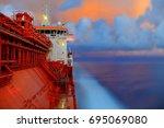 Lpg Tanker During Sea Passage...