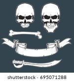 vector elements for pirate sign.... | Shutterstock .eps vector #695071288