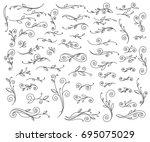 set floral design element... | Shutterstock .eps vector #695075029