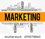 marketing word cloud collage ... | Shutterstock .eps vector #695078860
