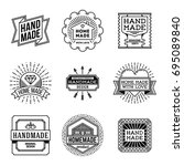 simple mono lines logos... | Shutterstock .eps vector #695089840