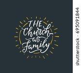 vector religions lettering  ... | Shutterstock .eps vector #695091844