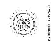 vector religions lettering  ... | Shutterstock .eps vector #695091874