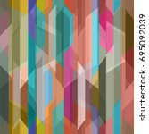 abstract color seamless pattern ... | Shutterstock .eps vector #695092039