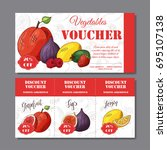 cafe discount voucher for your... | Shutterstock .eps vector #695107138