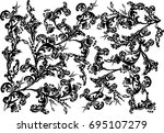 illustration with black curled... | Shutterstock .eps vector #695107279