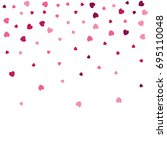 heart confetti border isolated... | Shutterstock .eps vector #695110048