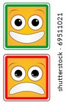 design of a happy face and a sad | Shutterstock .eps vector #69511021