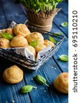 traditional french gougeres  ... | Shutterstock . vector #695110210