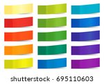 colored paper stickers for... | Shutterstock . vector #695110603