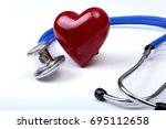 Medical Stethoscope And Red...