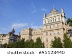 old palais de justice in... | Shutterstock . vector #695123440