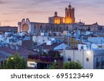 tarragona cathedral of santa... | Shutterstock . vector #695123449