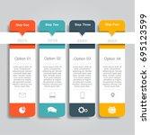 infographic template. vector... | Shutterstock .eps vector #695123599