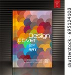 modern vector abstract book... | Shutterstock .eps vector #695124103