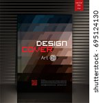 modern vector abstract book... | Shutterstock .eps vector #695124130