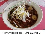 Small photo of Noodle Thicken Soup,pork ball.