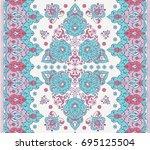 islamic floral pattern in... | Shutterstock .eps vector #695125504