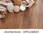 knitting from natural wool | Shutterstock . vector #695126824