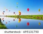 saga  japan   nov 03  saga... | Shutterstock . vector #695131750