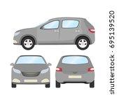 car vector template on white... | Shutterstock .eps vector #695139520