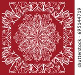 pattern from mandala for the... | Shutterstock .eps vector #695144719