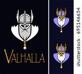 scandinavian god odin vector   Shutterstock .eps vector #695146654